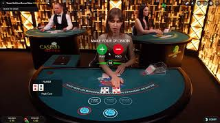 99€ Live Casino Texas Hold' em Bonus Poker