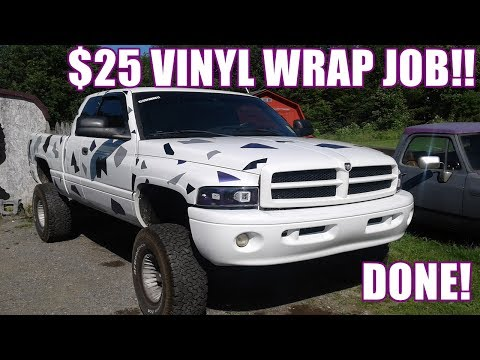 DIY $25 Vinyl Car Wrap Job! COLOSSUS NEW LOOK! ITS DONE!!