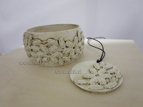 Decoupage tutorial. Create your own charm bracelet. How to make ivory.