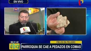 Comas: parroquia Santiago Apóstol necesita urgente restauración (2/2)