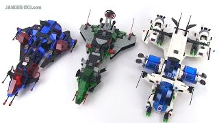 LEGO Space Police motherships compared! 1989 v. 1992 v. 2009!