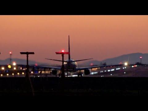 Evening Departures (1080HD) | Quick Planespotting Departures | Crosswind Landings