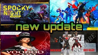 Free fire today update, new character,spooky night,cooda girl,after update detail