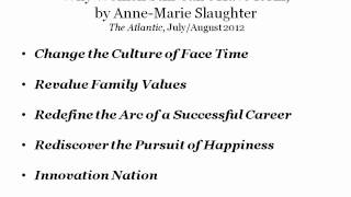 A Conversation with Anne-Marie Slaughter on Women, Work and Family
