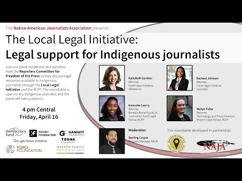 The Local Legal Initiative: Legal support for Indigenous journalists