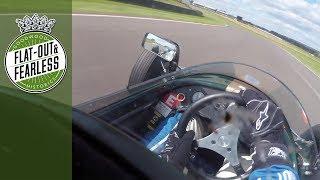 On board classic Brabham visor cam at Revival