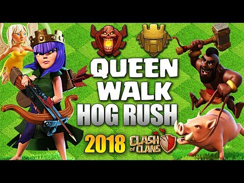 QueenWalk Mass Hogs : Pushing | Best Th9 Attack Strategy