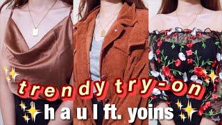 Download lagu TRENDY TRY-ON HAUL✨ ft. yoins.com ((ang gaganda huhu))
