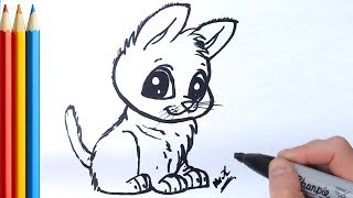 How to Draw Puppy or Wolf Cub - Step by Step Tutorial