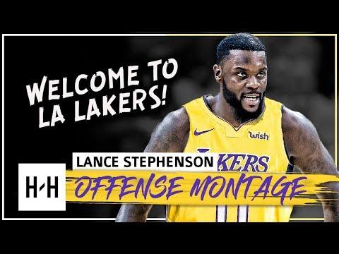 Lance Stephenson CRAZY Full Offense Highlights 2017-2018 NBA Season - Welcome to LA Lakers!