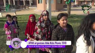 APAK organized ABLE Kids Picnic 2018 at yum-e-Bahar Kuwait: 28-Dec-2018