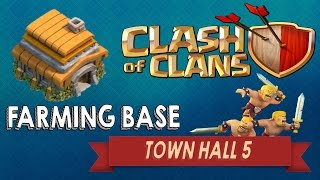TH5 Farming Base | Gold And Elixir | Clash Of Clans