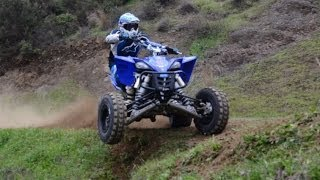 YAMAHA YFZ450R Vs DirtBike Pro Riders Onboard with Doros [Part 1]