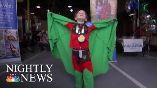 Six-Year-Old 'Super Henry' Achieves His Superhero Dream After Battling Cancer | NBC Nightly News