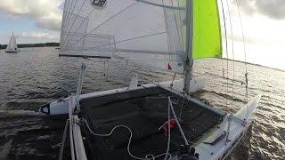 Catamaran zeilen Oldambtmeer 29 okt 2016