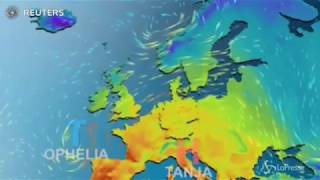 L'uragano Ophelia arriva in Irlanda - Hurricane Ophelia arrives in Ireland