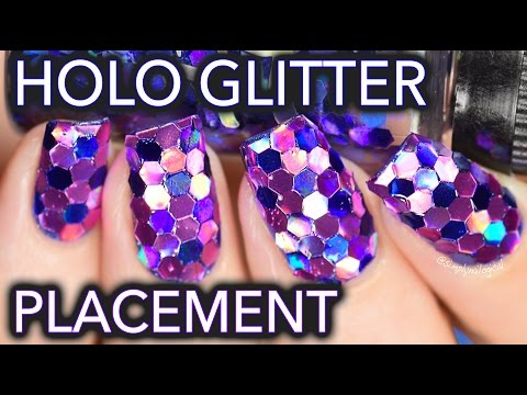 Large Holo Glitter Placement / SOCCER NAILS??
