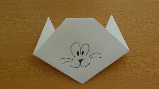 Оригами мордочка кота