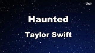 Haunted - Taylor Swift Karaoke【No Guide Melody】