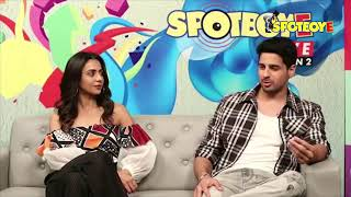 Sidharth Malhotra and Rakul Preet Singh Facebook Live for Aiyaary | SpotboyE