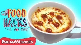 1 MINUTE PIZZA! & More Microwave Mug Hacks | FOOD HACKS FOR KIDS