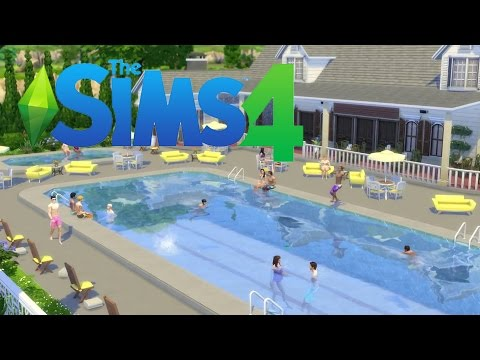 The sims 4 pool trailer youtube for Pool designs sims 4