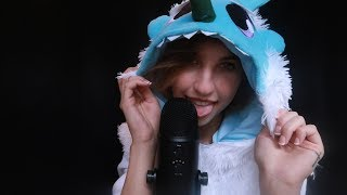 Yeti ASMR ~ Licking, Breathing, Up Close Whispers ⛄️