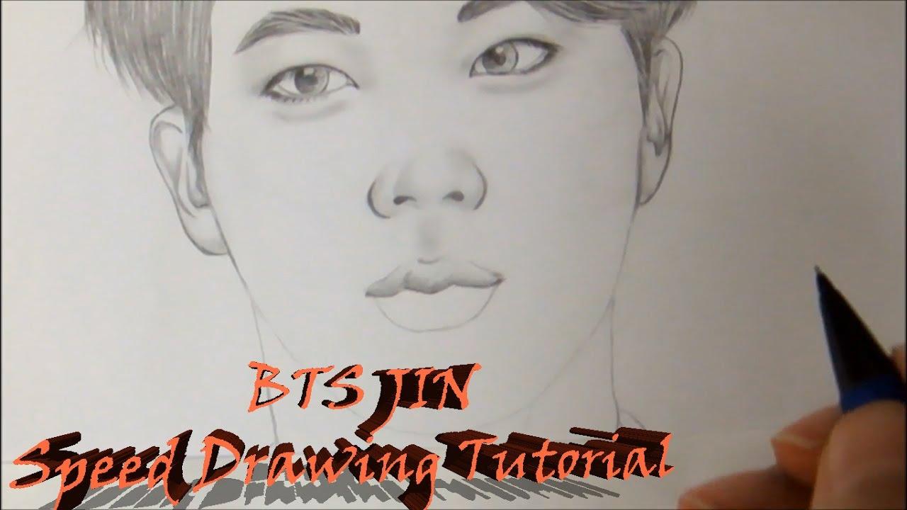 방탄소년단 Bts 진 Jin Speed Drawing Tutorial Youtube