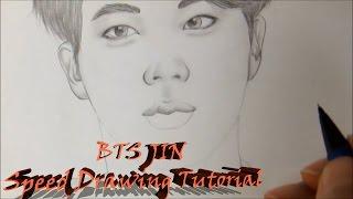 방탄소년단 BTS - 진 JIN speed drawing tutorial
