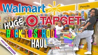 BACK TO SCHOOL SHOPPING 2018 HAUL at TARGET WALMART and OFFICE MAX + SHOPPING VLOG