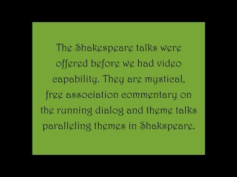 A Mystical View of Shakespeare, #21