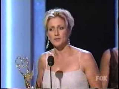 Edie Falco wins 2003 Emmy Award for Lead Actress in a Drama Series