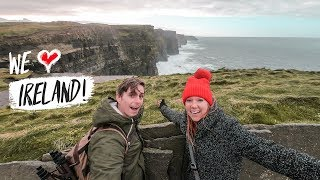 The Most Beautiful Place IN IRELAND!? Cliffs Of Moher 😍+ INSANE WIND!