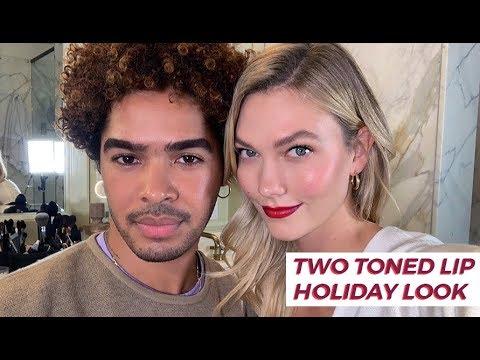 Two Toned Lip & Holiday Make Up Tutorial | Karlie Kloss