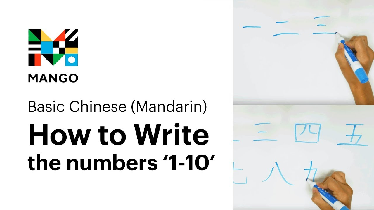 How To Write The Numbers 1