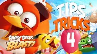 Angry Birds Blast Tips and Tricks Part 4 - Power Ups - Slingshot + Vertical Rocket