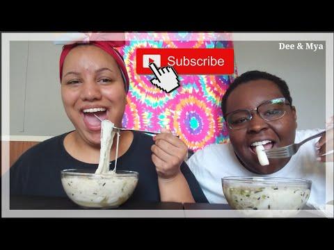 Rice Noodles & Rice Cake Soup   Mukbang