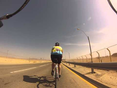 Riding with my cycling buddy David Topper