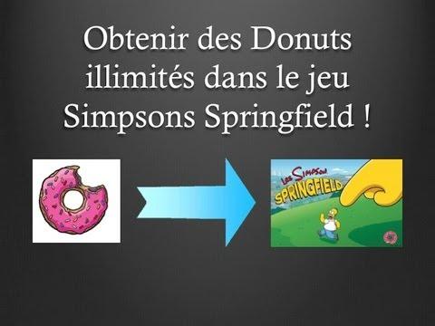 Obtenir des donuts illimit s dans le jeu simpson for Ou avoir des cartons gratuits