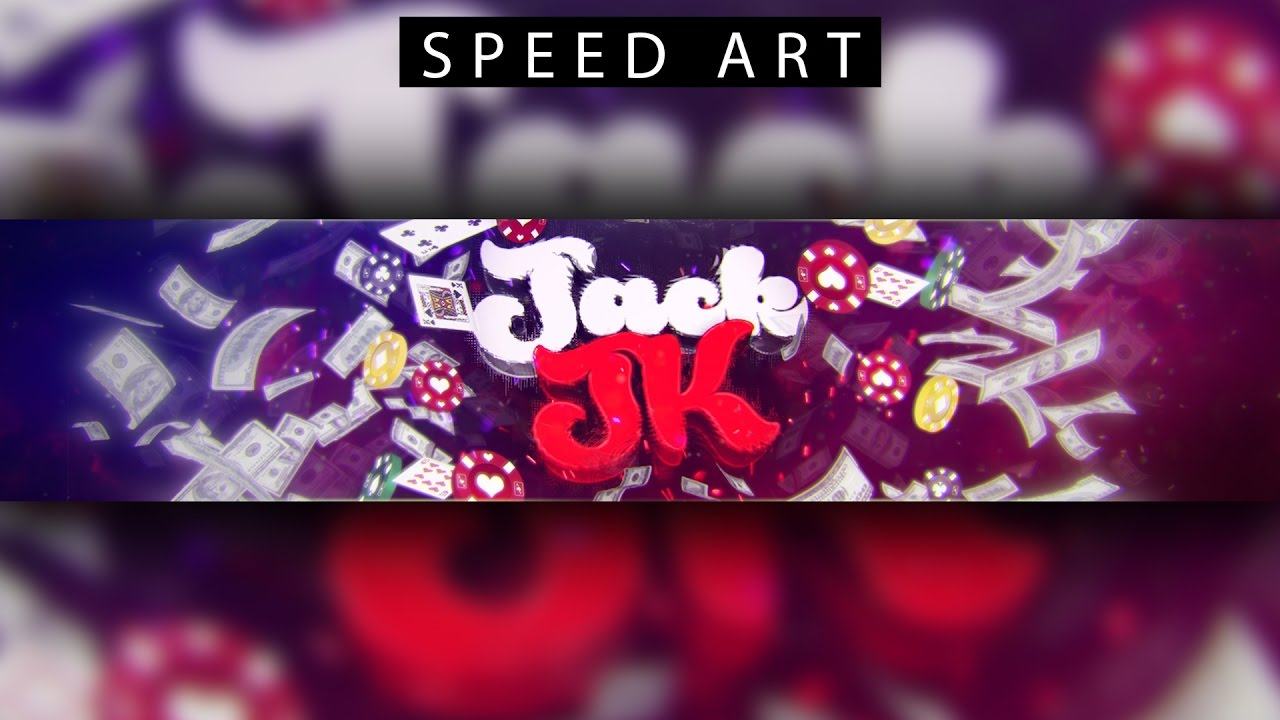 HOT 3D Abstract Glitched YouTube Banner