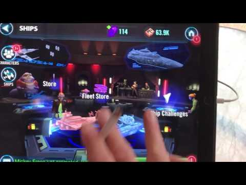 Star Wars galaxy of heroes number one ship player in the world.