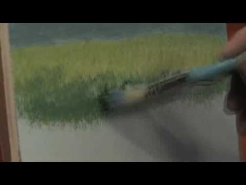 how to make grass oil paint