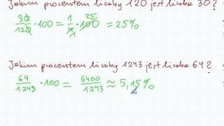 Jaki to procent? Jakim procentem liczby A jest liczba B? - Matematyka S.P. i Gimnazjum