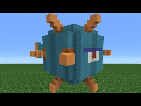 Minecraft Tutorial How To Make A Guardian Statue Youtube