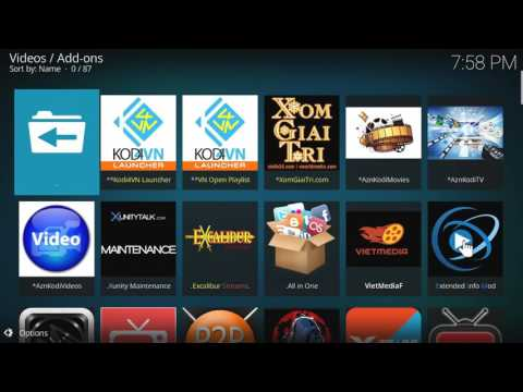 Kodi - Krypton 17.1How to customize your homescreen