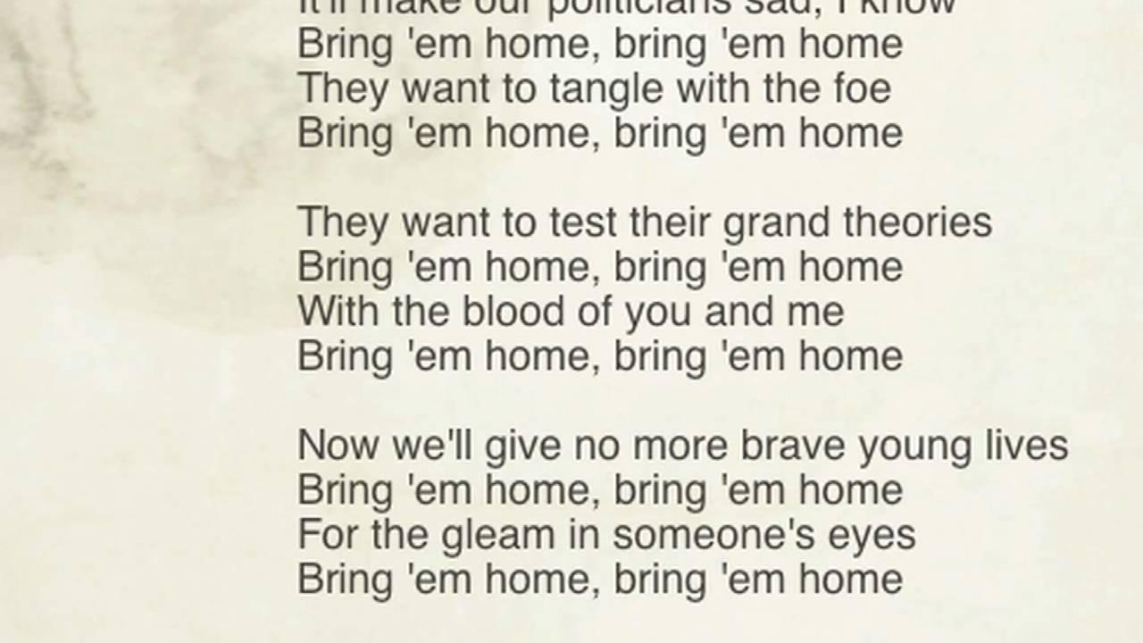 pete seeger bring em home lyrics