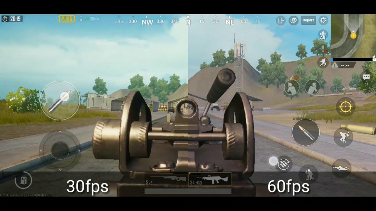 PUBG MOBILE 30Fps vs 60Fps comparison
