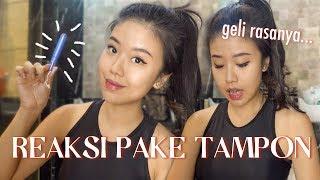 Download PERTAMA KALI COBA TAMPON! Live Reaction Dan Pake Seharian   Titan Tries Ep 5
