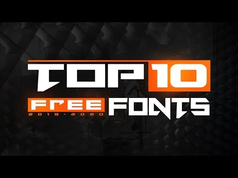 Best 20 FREE Fonts to use for YouTube, Logo & GFX - PART 1.