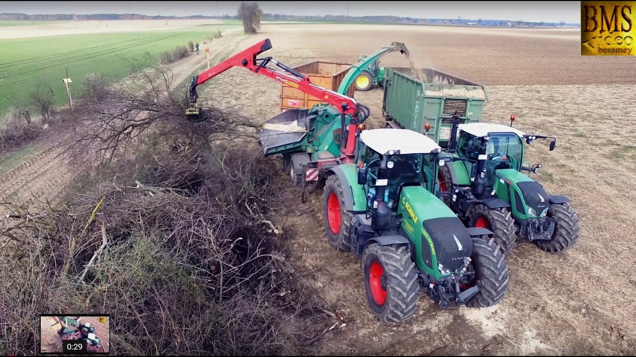 PflanzkUbel Holz Mit Einsatz ~  Holzhacker  Holzhäcksler im Einsatz Holz häckseln  YouTube